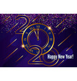 greeting card 2020 happy new year christmas vector image