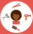 hair dressing vector image