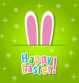Happy Easter greeting card with bunny ears vector image