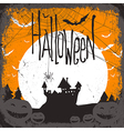 haunted castle and web vector image vector image