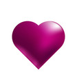 heart in purple tones on a white background vector image vector image