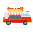 hot dog track flat material design isolated vector image vector image