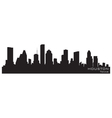 Houston texas skyline detailed silhouette vector | Price: 1 Credit (USD $1)