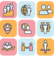 Human resources and management thin line icons set vector image vector image