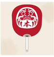 japanese fan daruma doll background image vector image vector image