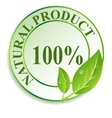 Label for natural products vector image vector image