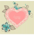 lace heart vector image vector image