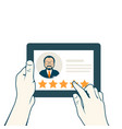 leave a clients review - customer assessment vector image