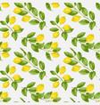 lemon brunches seamless pattern vector image vector image