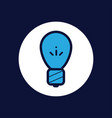light bulb icon sign symbol vector image vector image