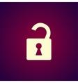 lock icon Flat design style vector image vector image