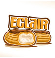 logo for french eclair vector image vector image