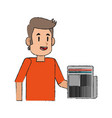 man avatar full body icon image vector image