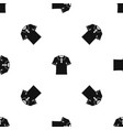 men polo shirt pattern seamless black vector image vector image