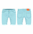 mens light blue jeans vector image vector image