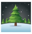 merry christmas pinetree design vector image