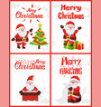 merry christmas santa claus wintertime adventures vector image vector image
