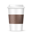 modern coffee cup vector image vector image