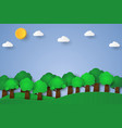 nature landscape background paper art style vector image
