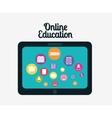 Online Education design vector image