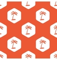 Orange hexagon vacation pattern vector image vector image