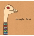 ostrich on canvas vector image