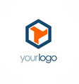 polygon shape company logo vector image vector image