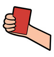 red card referee football soccer icon image vector image vector image
