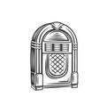 retro jukebox monochrome icon vector image