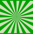 retro rays green background vector image