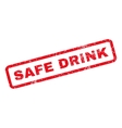 Safe Drink Rubber Stamp vector image vector image