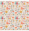 seamless pattern with cute christmas bafox vector image vector image