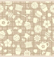 seamless tea pattern with sweet food vector image