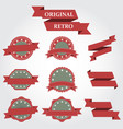 set of retro icons vintage vector image
