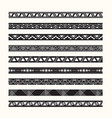 set vintage borders lines vector image