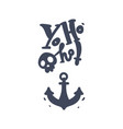 skull crossbones jolly roger pirates anchor vector image