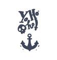 skull crossbones jolly roger pirates anchor vector image vector image