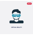 two color virtual reality icon from smart house vector image vector image