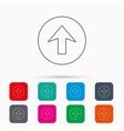 Upload icon Top arrow sign vector image