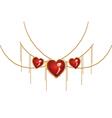 Valentine jewelry2 vector image