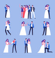 wedding celebration ceremony of marriage with vector image