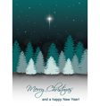 winter night landscape with star bethleh vector image