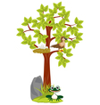 Year tree with jack and bird vector image vector image