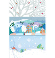 Winter banner for Christmas and New year time vector image