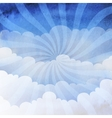 background cloudy sky vector image