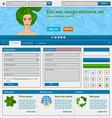 Eco web design elements set vector image
