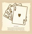 four aces vintage poster vector image