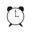 flat clock sign black icon vector image