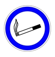 Sign place for smoking 1007 vector image