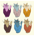 6 cats vector image vector image